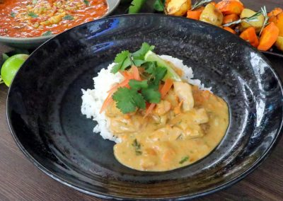 Coconut & peanut satay chicken